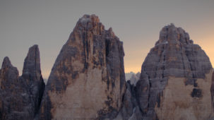Tre Cime / 3 Zinnen close on the walls