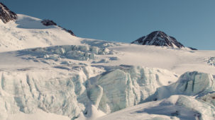 Ice blocks on the Pitztal Glacier