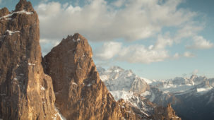 Sella in spring snow