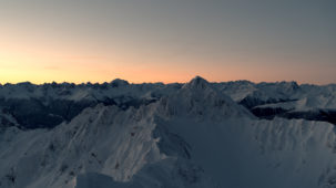 Reither Spitze summit in Seefeld at dawn