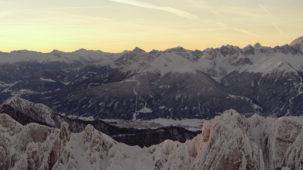 Dawn revealer of Inn valley near Innsbruck
