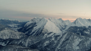 Karwendel at dawn looking North