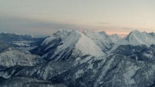 Karwendel at dawn looking North