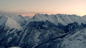 Karwendel at dawn looking North-East