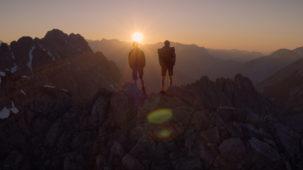 Sunset over the Karwendel