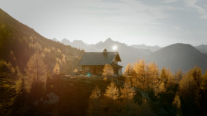 Patscherkofel hut in autumn