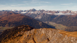 Ridge with alpine panorama