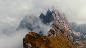 Seceda / Dolomites in mist 1