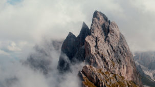 Seceda / Dolomites in mist close 3
