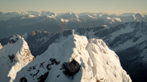 Summit orbit and Dolomites