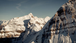 Steep walls in the central Alps
