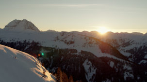 Sunset over the Kitzbuehel Alps