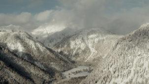 Deep winter Alpine side valley