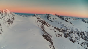 Sunrise over the Oetztal Alps