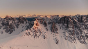 Sunset over the Kalkkoegel, Stubai Alps