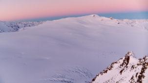 Gepatschferner Glacier at dawn