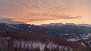 Dawn clouds over the Wipptal valley