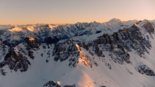 Sunset over the Kalkkoegel, Stubai Alps 1