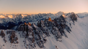 Sunset over the Kalkkoegel, Stubai Alps 2