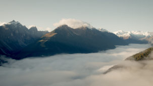 0201 Stubai Valley over the fog