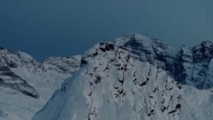 Summit at dusk