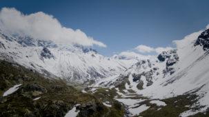 Jamtal side valley looking East
