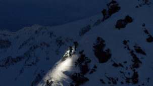 Mountaineers at dusk 1