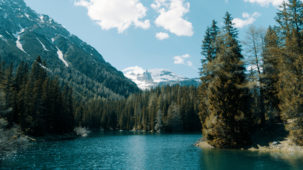 Obernberger Lake low wide